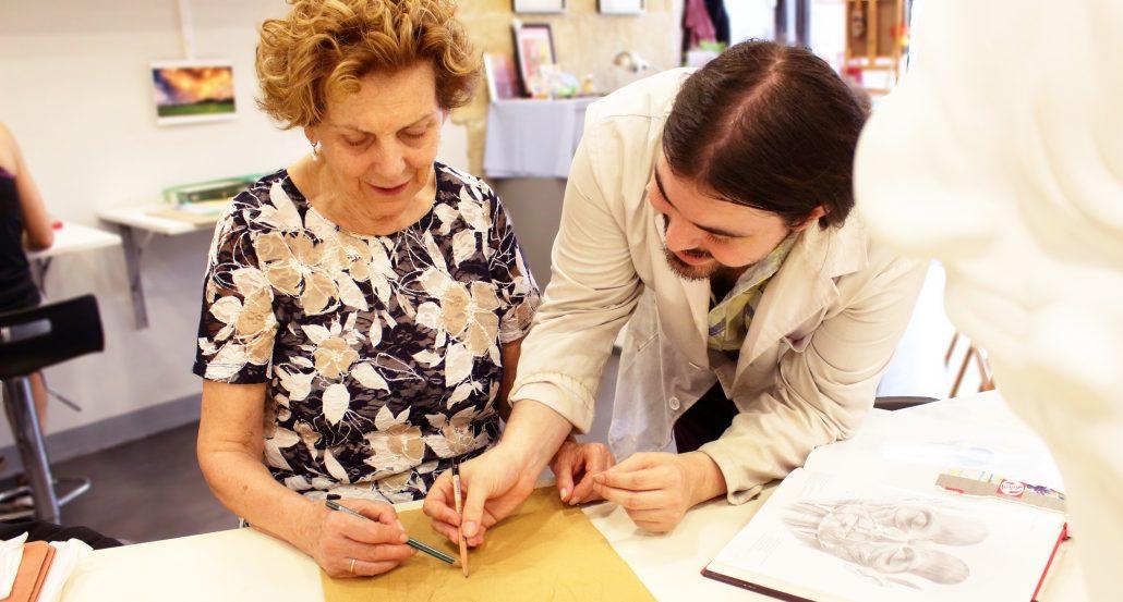 espacioArte, academia de dibujo y pintura en la que se imparten clases con dedicación a jóvenes y mayores