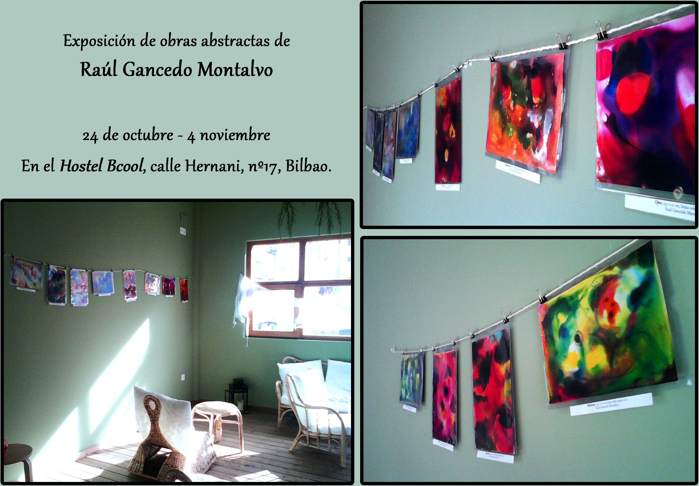 Exposición de Raúl en el Hostel Bcool