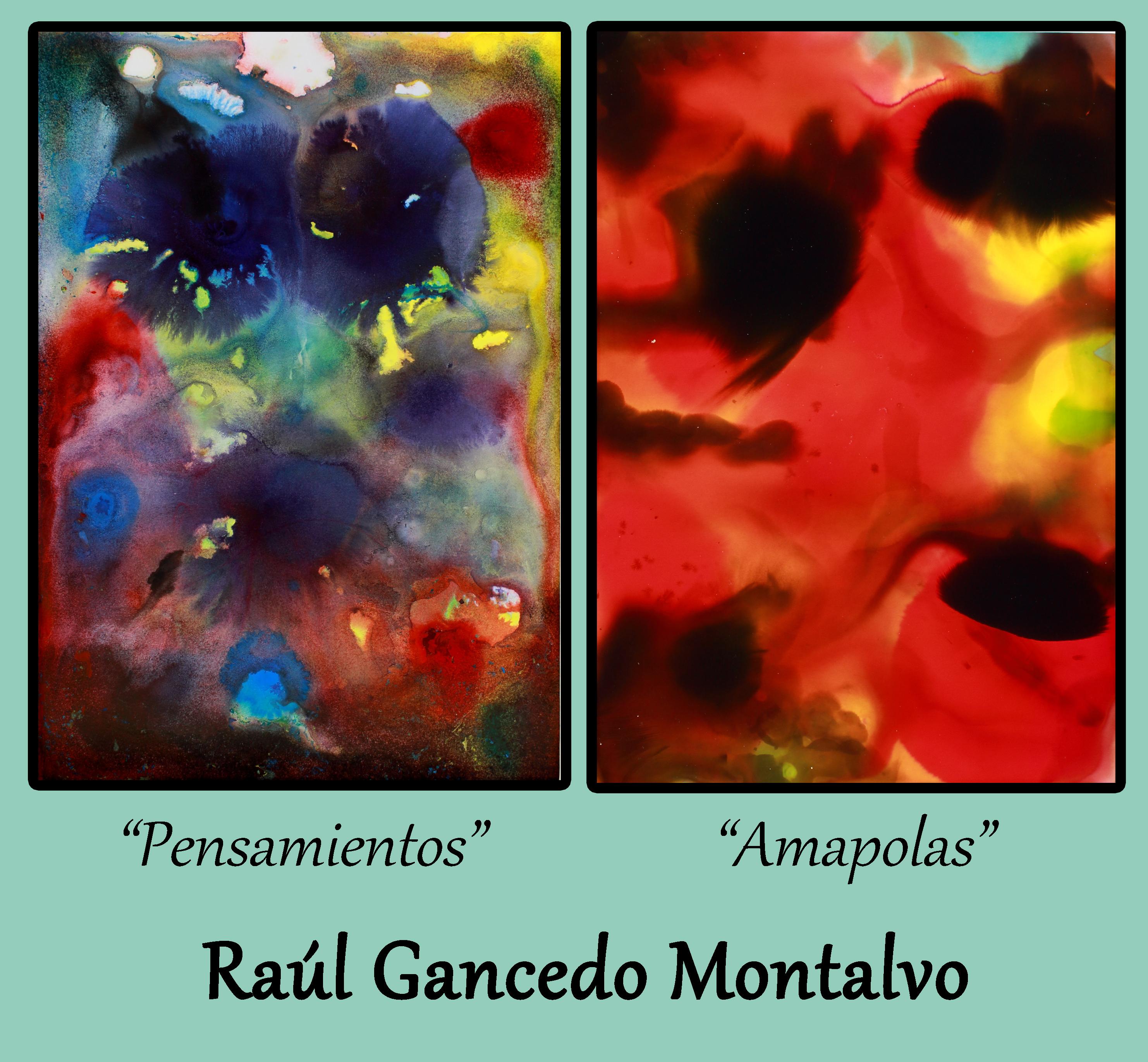 Obras abstractas de Raúl Gancedo Montalvo